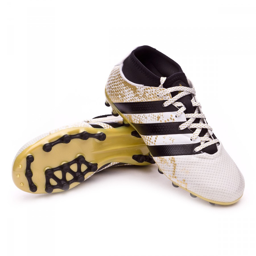 Bota de fútbol adidas Ace 16.3 Primemesh AG Niño White-Core black-Gold  metallic - Leaked soccer c21833fd37d6a