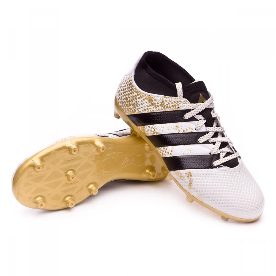 new arrival 5028c 976b6 Boot adidas Jr Ace 16.3 Primemesh FGAG White-Core black-Gold metallic -  Football store Fútbol Emotion
