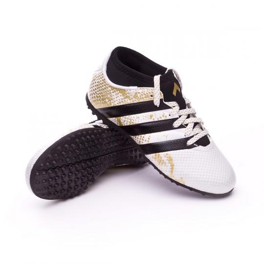 Bota  adidas Ace 16.3 Primemesh Turf Niño White-Core black-Gold metallic