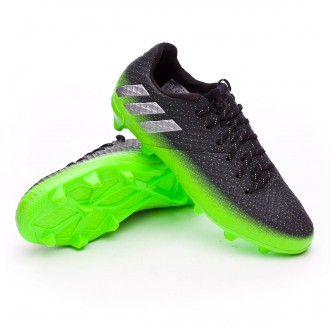 Jr Messi 16.1 FG Dark grey-Silver metallic-Solar green