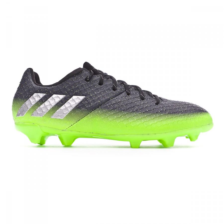 ... Bota Messi 16.1 FG Niño Dark grey-Silver metallic-Solar green.  CATEGORY. Football boots · adidas football boots d0cc9868f878a