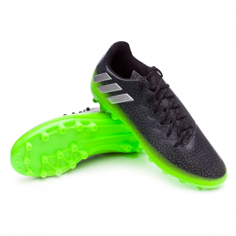 88dcc51cd2349 Chuteira adidas Jr Messi 16.3 AG Dark grey-Silver metallic-Solar green -  Loja de futebol Fútbol Emotion