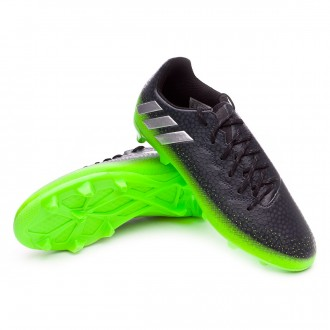 Chuteira  adidas Jr Messi 16.3 FG Dark grey-Silver metallic-Solar green
