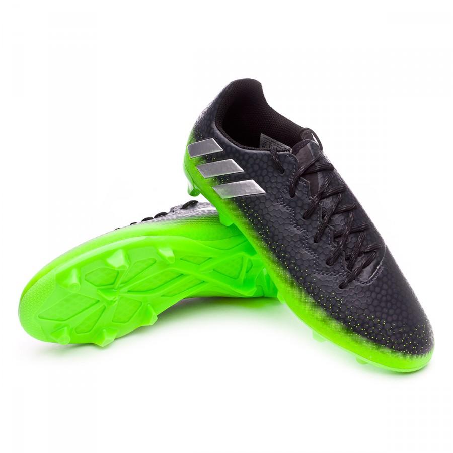 Bota de fútbol adidas Messi 16.3 FG Niño Dark grey-Silver metallic-Solar  green - Soloporteros es ahora Fútbol Emotion 115968fe1a1cc