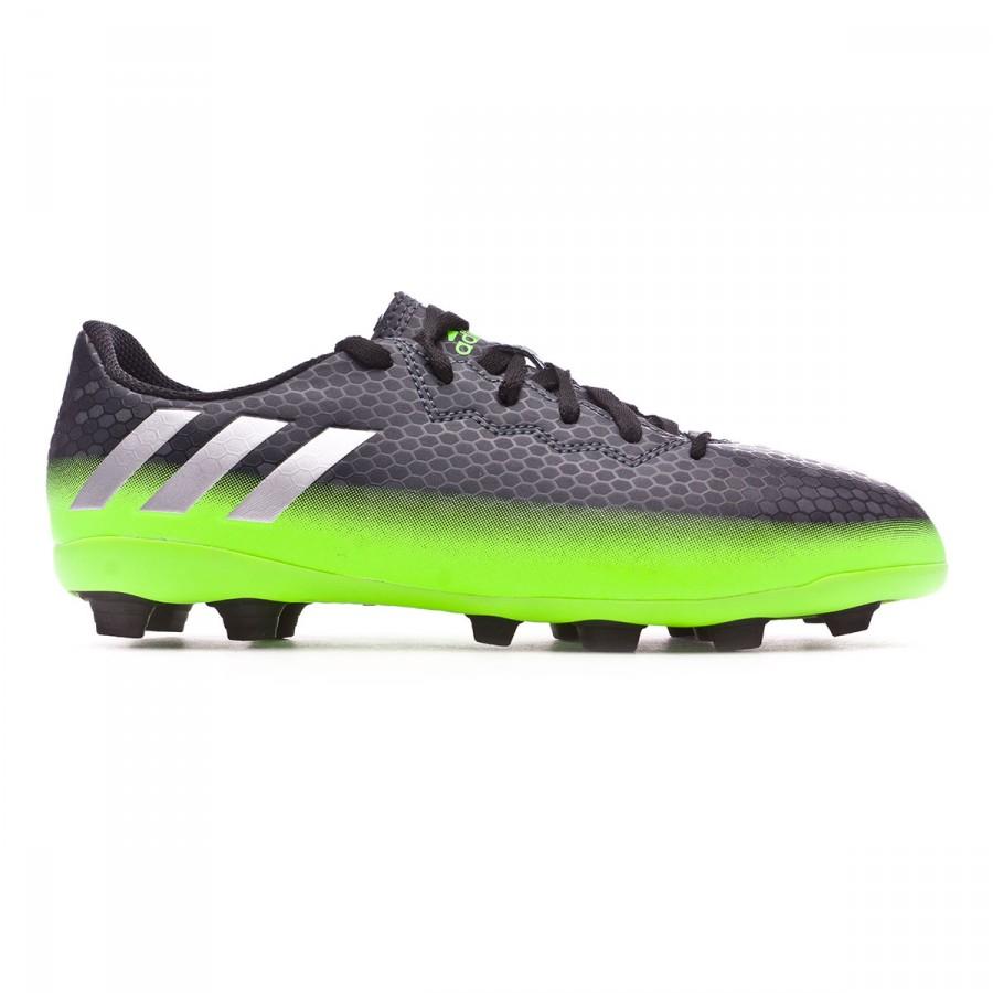 buy popular c47b2 2107b Boot adidas Jr Messi 16.4 FxG Dark grey-Silver metallic-Solar green -  Football store Fútbol Emotion