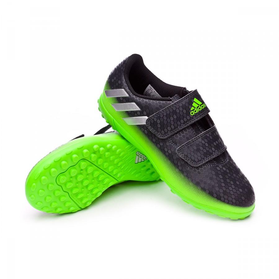 80c2a7ebde5 Football Boots adidas Jr Messi 16.4 VelcroTurf Dark grey-Silver ...