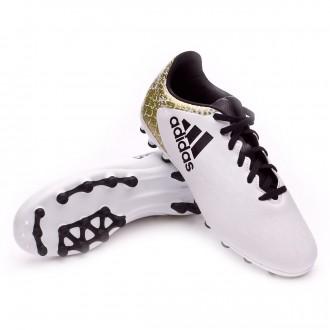 Chuteira  adidas Jr X 16.3 AG White-Core black-Gold metallic
