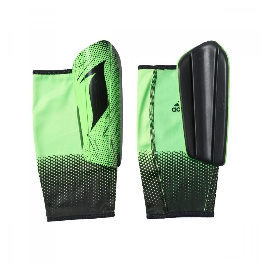 efdee5e47 Shinpads adidas Messi 10 Pro Solar lime-Black - Football store ...