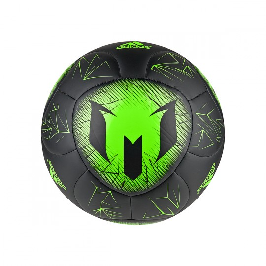 Balón  adidas Messi Q4 Black-Solar green