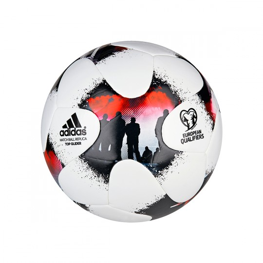 Balón  adidas European Qualifier Glider White-Solar red-Black