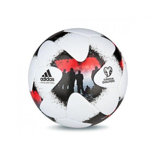 Balón  adidas European Qualifier OMB White-Solar red-Black
