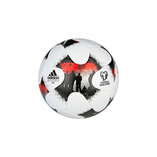 Bola de Futebol  adidas Mini European Qulifier Glider White-Solar red-Black