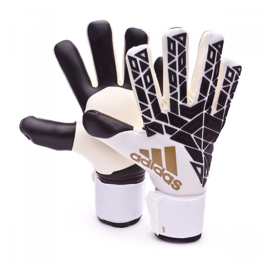 Glove Adidas Ace Trans Pro White Black Gold Metallic