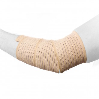 Ligadura  Rehab Medic elástica para Codo Beige