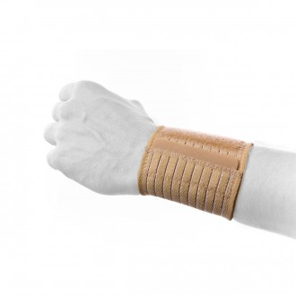 Ligadura  Rehab Medic elástica para o Pulso Beige
