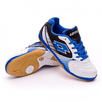 Sapatilha de Futsal  Lotto Jr Tacto II 500 White-Blue