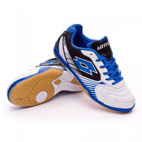 Zapatilla de fútbol sala  Lotto jr Tacto II 500 White-Blue