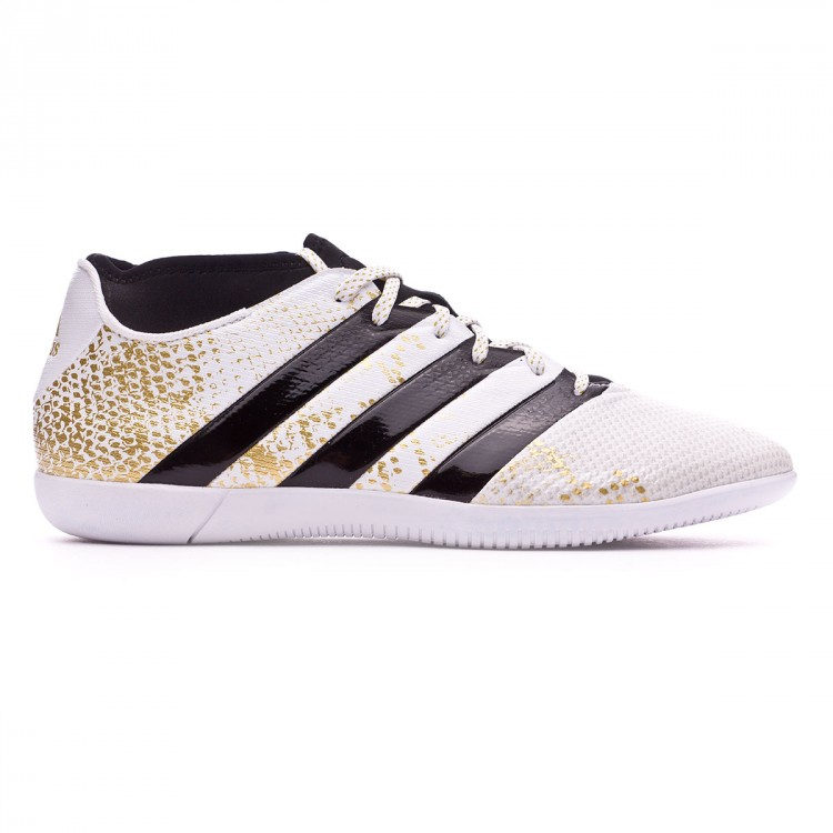 Futsal Boot adidas Ace 16.3 Primemesh IN White-Black-Gold metallic ... b52ff7dde10fe