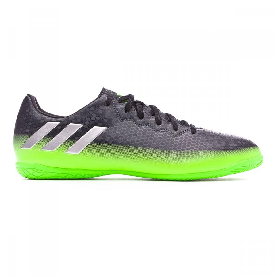 ... Zapatilla Messi 16.4 IN Dark grey-Silver metallic-Solar green. CATEGORY 1f59dce8f4468