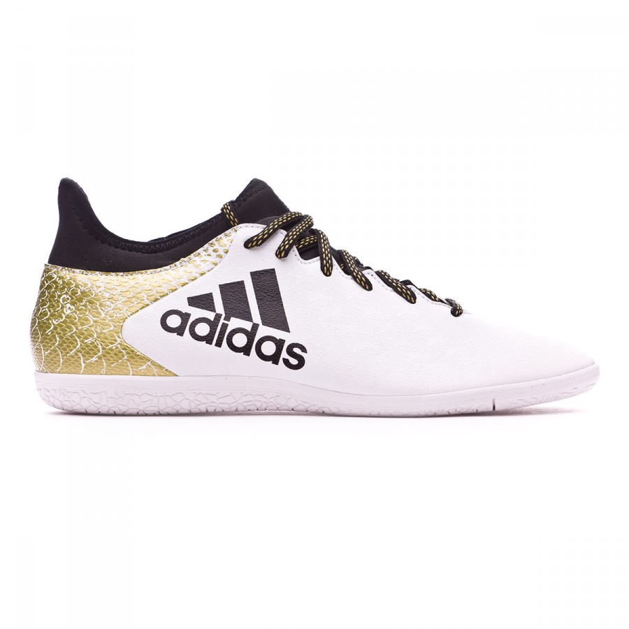 promo code 0e035 4540f Futsal Boot adidas X 16.3 IN White-Black-Gold metallic - Tienda de fútbol  Fútbol Emotion