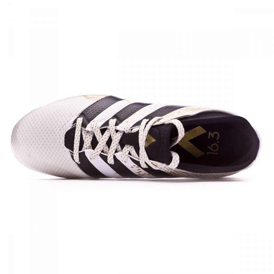 f1a5c0bb1 Futsal Boot adidas Jr Ace 16.3 Primemesh White-Black-Gold metallic -  Football store Fútbol Emotion