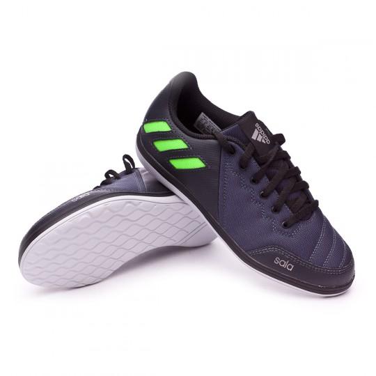 Zapatilla de fútbol sala  adidas jr Messi 16.4 ST Dark grey-Solar green-Black