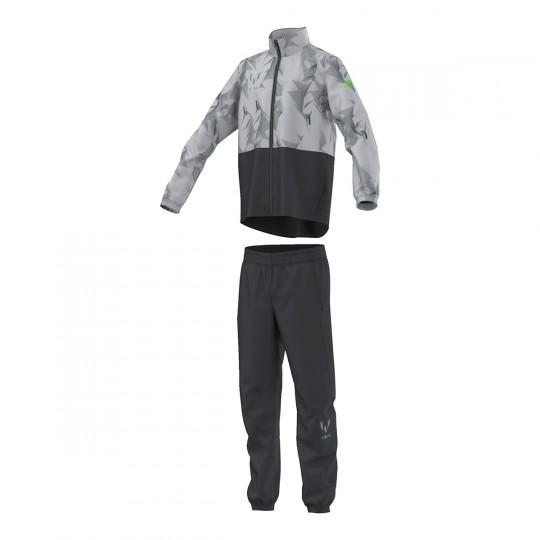 Chándal  adidas jr Messi Woven Close Hem Dark grey-Clear onix