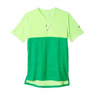 Camiseta  adidas Messi Quarter All Over Print Niño Solar green