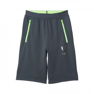 Calções  adidas Jr Messi Knitted Dark grey-Solar green