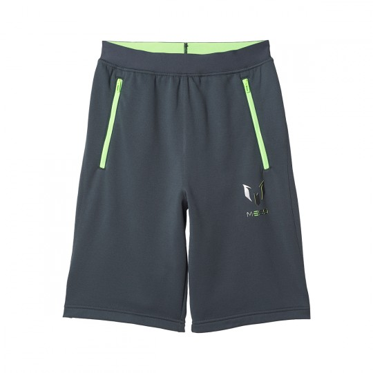 Pantalón corto  adidas jr Messi Knitted Dark grey-Solar green