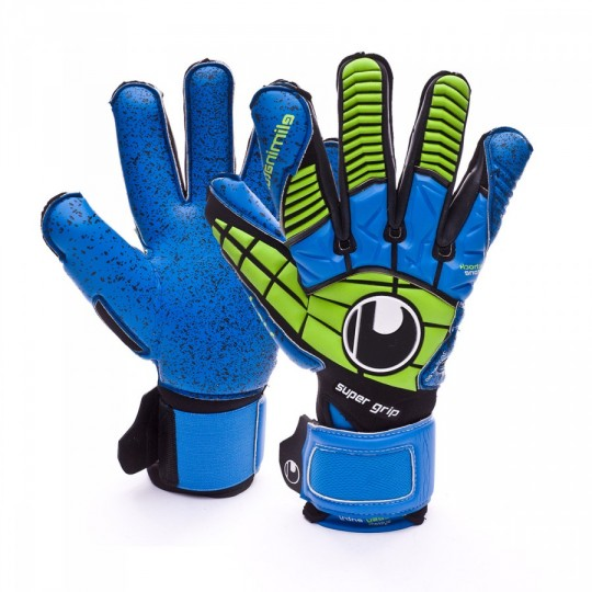 Luvas  Uhlsport Eliminator Supergrip Black-Blue-Power green