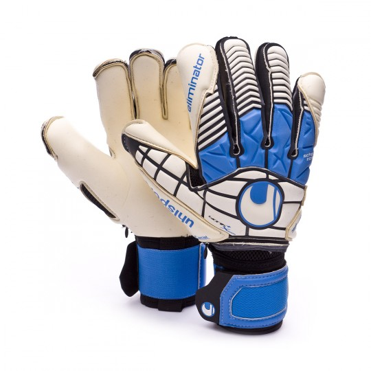 Luvas  Uhlsport Eliminator Absolutgrip Bionik X-Change Black-White-Blue