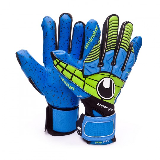 Luvas  Uhlsport Eliminator Supergrip HN Black-Power green-Blue