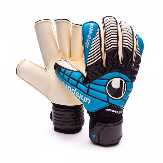 Guante  Uhlsport Eliminator Absolutgrip RF Schwarz-Cyan