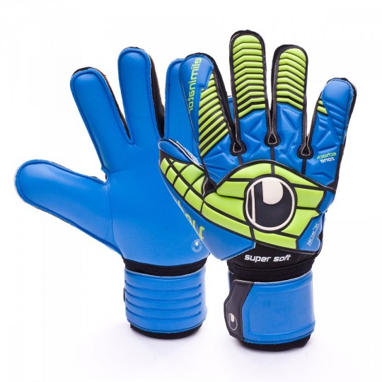 Luvas  Uhlsport Eliminator Supersoft Black-Power green-Blue