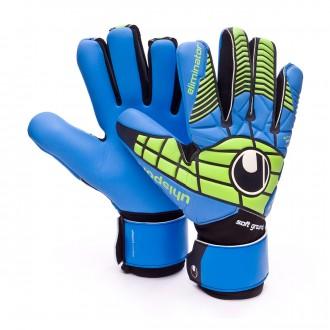 Guante  Uhlsport Eliminator Soft HN Comp Black-Power green-Blue