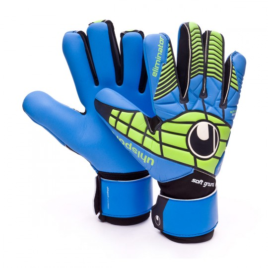 Luvas  Uhlsport Eliminator Soft HN Comp Black-Power green-Blue