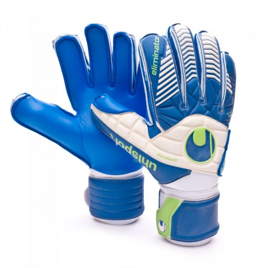 Guante  Uhlsport Eliminator Aquasoft White-Pacific-Fluor green