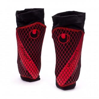 Caneleira  Uhlsport SockShield Lite 2.0 Black-Fluor red