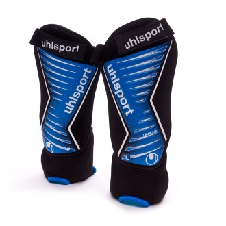 Espinillera  Uhlsport Tibia Plate Pro Black-Blue-White