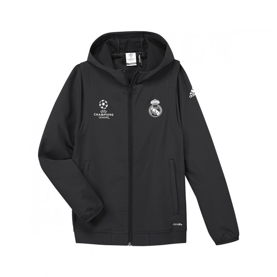 Chaqueta  adidas jr Real Madrid CF Champions 2016-2017 Carbon-Black
