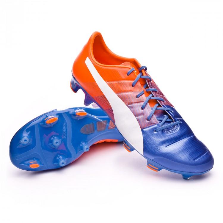 b44092383671 Boot Puma evoPOWER 1.3 FG Piel Blue yonder-Puma white-Shocking ...