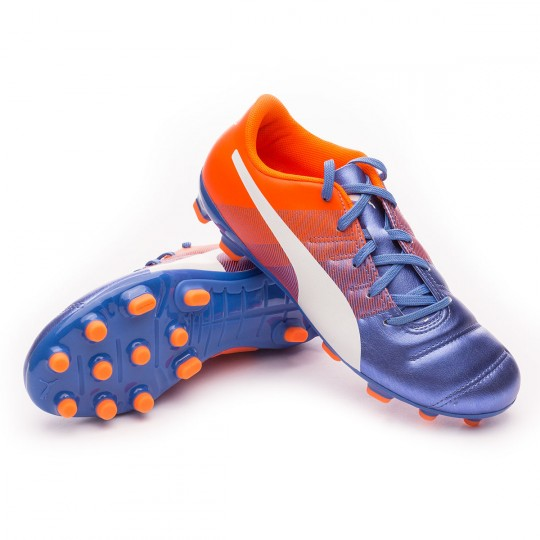 Chaussure  Puma jr evoPOWER 4.3 AG Blue yonder-Puma white-Shocking