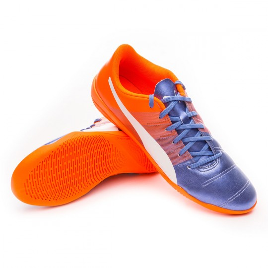 Chaussure de futsal  Puma evoPOWER 4.3 IT Blue yonder-Puma white-Shocking