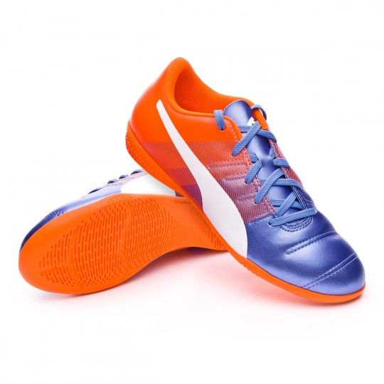 Chaussure de futsal  Puma jr evoPOWER 4.3 IT Blue yonder-Puma white-Shocking