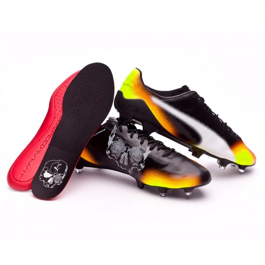 Chaussure  Puma evoSPEED SL II Graphic FG Black-Yellow