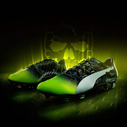 Chaussure  Puma evoPOWER 1.3 Graphic FG Black-Yellow