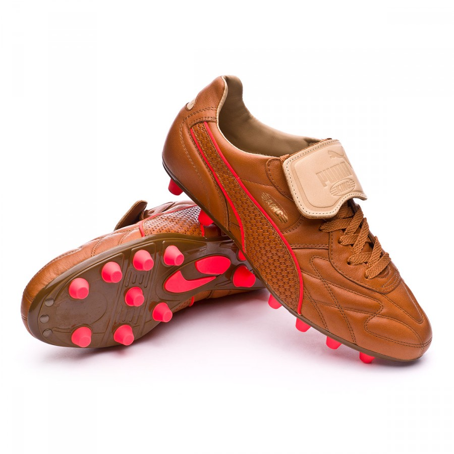 Boot Puma King Top M.I.I Naturale FG Brown-Red blast - Football ... 645e6f755