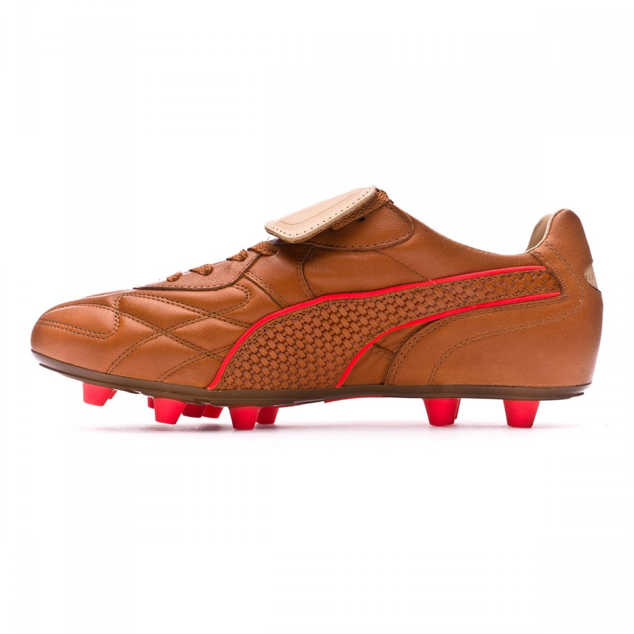 Boot Puma King Top M.I.I Naturale FG Brown-Red blast - Football store  Fútbol Emotion 7cef67be2