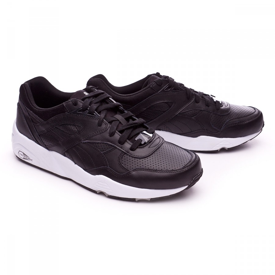 8c5bdbdf31e Puma Trinomic R698 Core Leather Trainers. Black-Drizzle ...